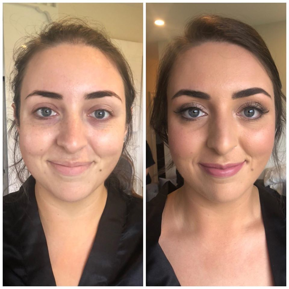 before and after makeup artist